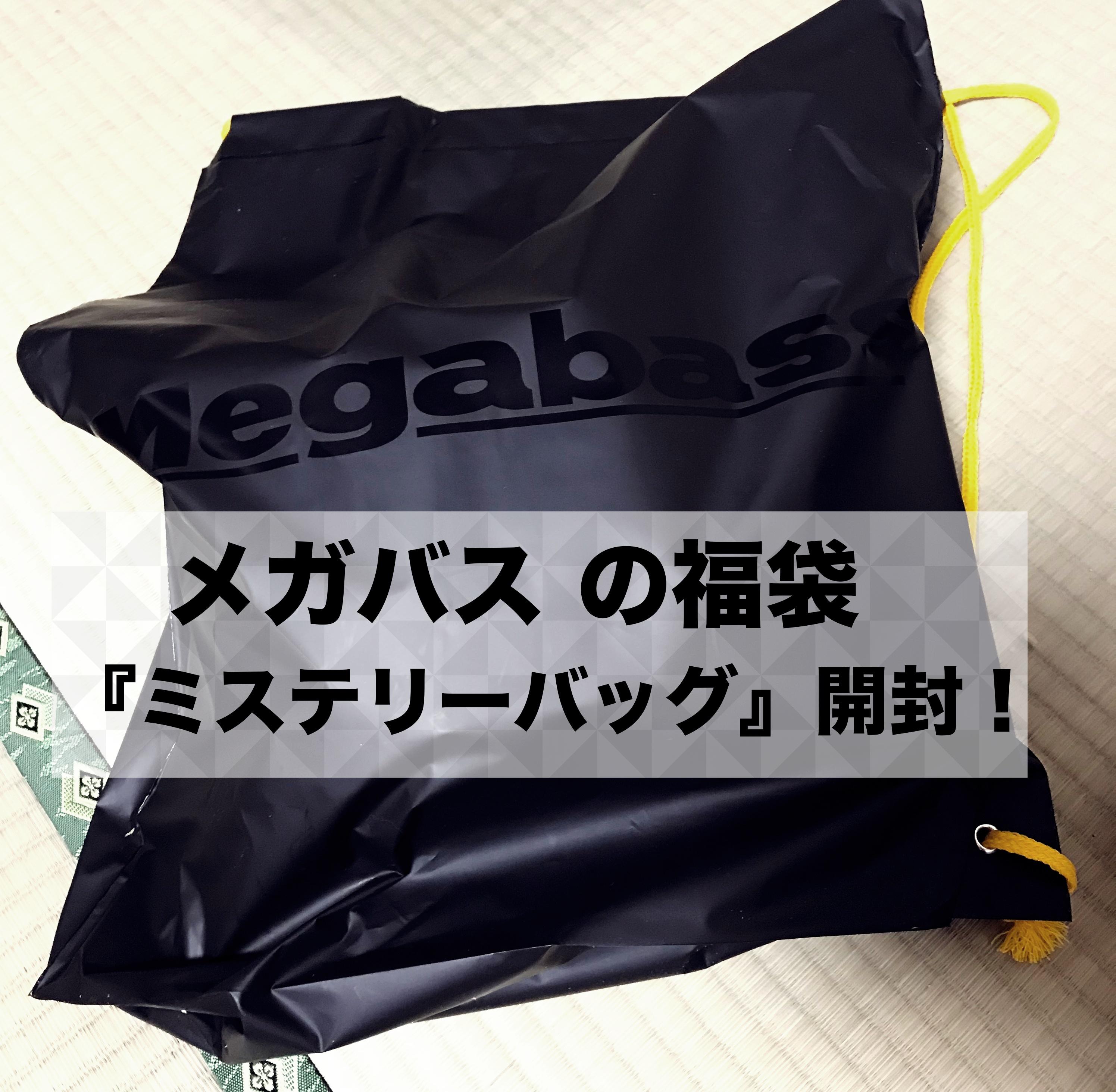 【2018】メガバス オンライン限定の『ミステリーバッグ』を買ってみた!中身を一挙公開!
